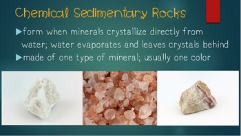 Describing Sedimentary Rocks Powerpoint By Lindsays Lesson Lab Tpt