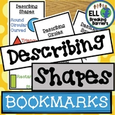 Describing Shapes Bookmark and Mini Book, ELL Friendly