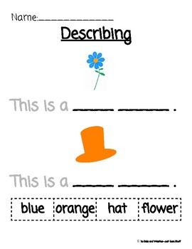 Describing Simple Pictures- Using Color Words