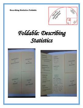 Describing Statistics Foldable
