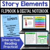 Describing Story Elements Activity| Flipbook *Google Slide