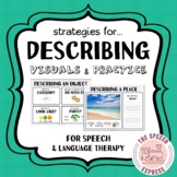 Describing: Strategies and Visuals for Speech and Language
