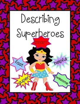 Describing Superhero - Cover for Class' Work