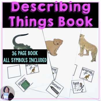 Describing Things Communication Symbol Book or Cards for Autism_AAC