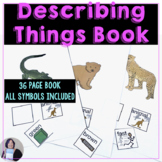 Describing Things Communication Symbol Book or Cards for A