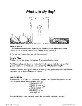 Describing Things (Oral Language Skills)