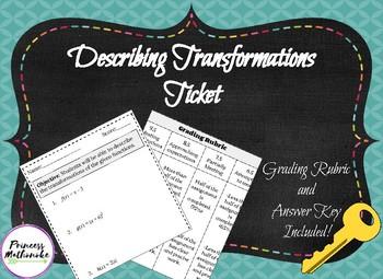 Describing Transformations Ticket
