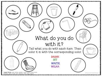 Describing Vocabulary Packet