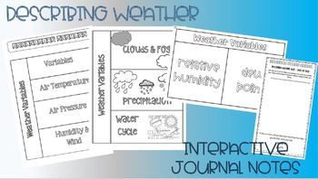 Describing Weather Interactive Journal Notes