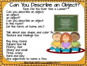 Describing Words – An Adjective Resource