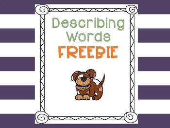 Describing Words Freebie