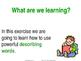 Describing Words - PowerPoint teaching resource