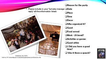 Describing a party or family celebration-any language