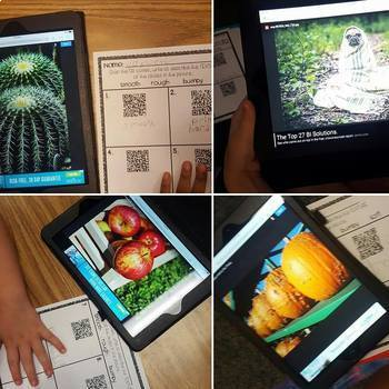 Describing & Sorting Properties of Matter~ Texture Hunt, Picture Sort, QR Codes!
