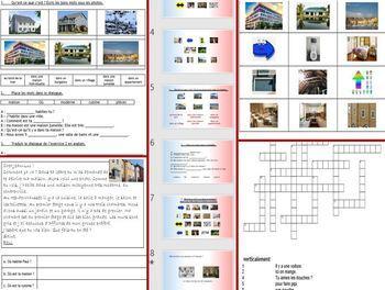 French, en français - maison, house: workbook, presentation, cue cards, vocab