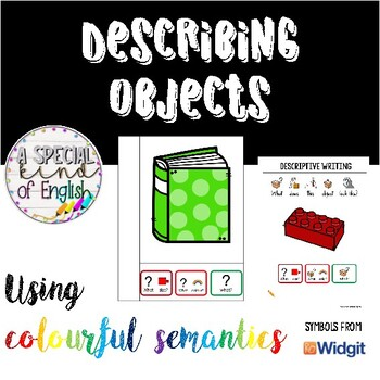 Describing objects using colourful semantics (UK and US version)