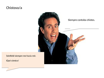 Describing people/ things using el imperfecto Expresate CH 6, Spanish 2