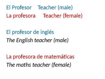 Describing teachers / Los profesores