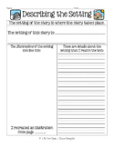 Describing the Setting Graphic Organizer Worksheet