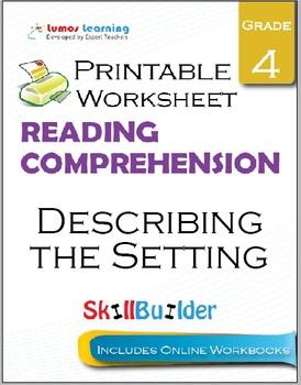 Describing the Setting Printable Worksheet, Grade 4