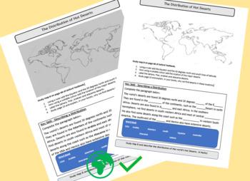 Describing the distribution of deserts - exam Skill