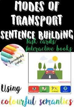 Describing transport using colourful (colorful) semantics (US and UK Version)