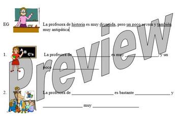 Describing your teacher in Spanish