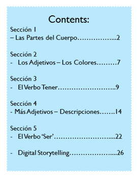 Descriptions - Tener, Ser, Adjectives & Digital Storytelling Activity w/ Sample!