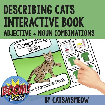 Descriptive Concepts Interactive Book - Speech Therapy, Cats, Adjectives
