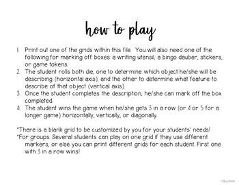 Description Dice Game