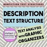 Description Text Structure: Graphic Organizer Worksheets