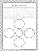 Description Text Structure: Graphic Organizer Worksheets