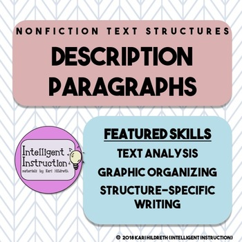 Description Text Structure: Paragraph Analysis and Writing Assessment