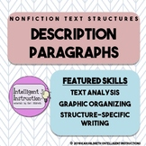 Description Text Structure: Intro, Paragraph Analysis, Wri