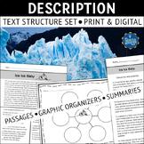 Description Text Structure Reading Comprehension Passages