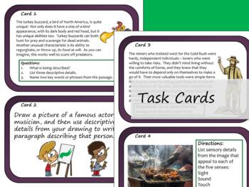 Description Text Structure - Task Cards and Slide Presentation