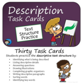 Description - Text Structure Task Cards
