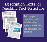 Description Texts for Teaching Text Structure