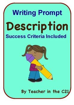 Description Writing Prompt {Success Criteria Included}