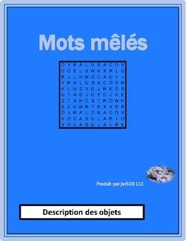 Description des objets (French Description) Wordsearch