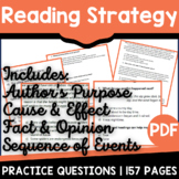 Reading Strategies Distance Learning Packet | At Home Lear