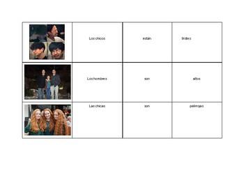 Descriptions: Sentence maker puzzle