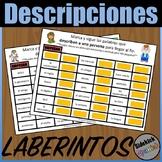 Descriptions Vocabulary Mazes in Spanish