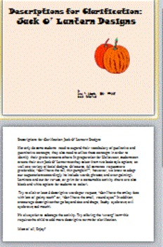 Descriptions for Clarification: Jack O'Lantern Designs