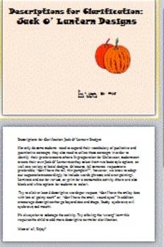 Descriptions for Clarification: Jack O'Lantern Designs