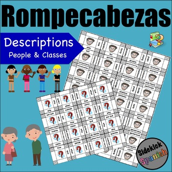 Descriptions of people and classes Vocabulary Puzzles