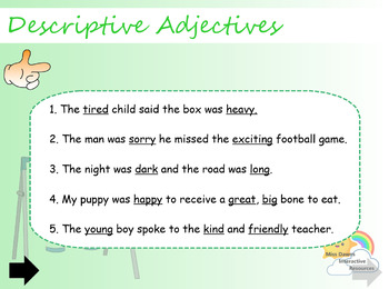 Interactive Descriptive Adjectives Activity FREEBIE