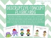 Descriptive Concepts - Expressive and Receptive Language Cards!