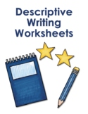 Descriptive Creative Writing Worksheets - Reproducible Boo
