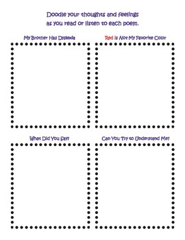 Descriptive Dyslexia Doodles - Four Poems that Illustrate the World of Dyslexia